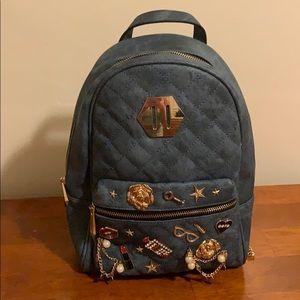 Aldo denim charm backpack